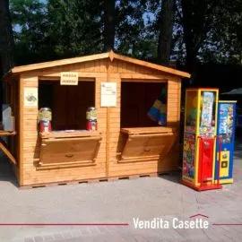 Chiosco in legno a pannelli