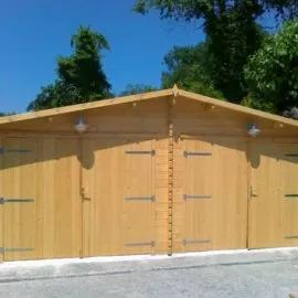 Garage in legno doppio